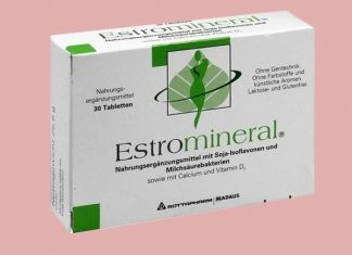 Mặt ngoài hộp Estromineral