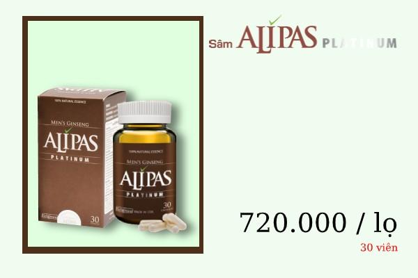 Giá cả trên thị trường của Sâm Alipas Platinum