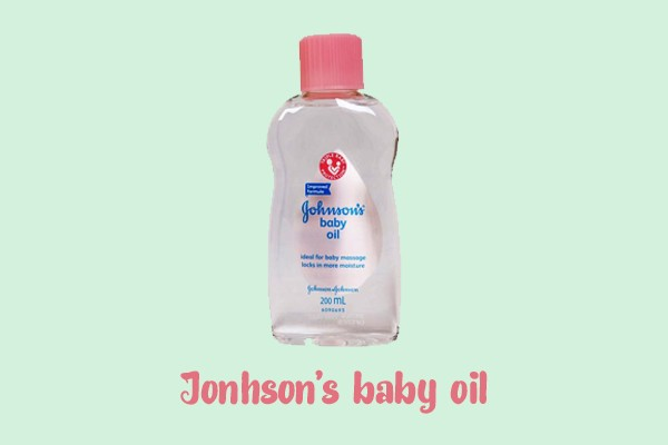 johnson's baby oil.