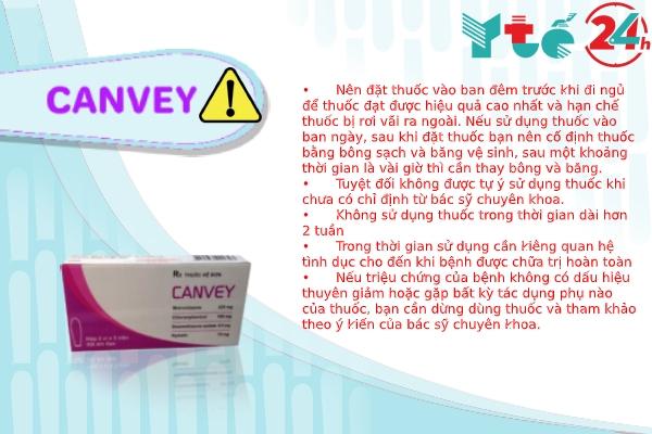 Lưu ý khi sử dụng Canvey