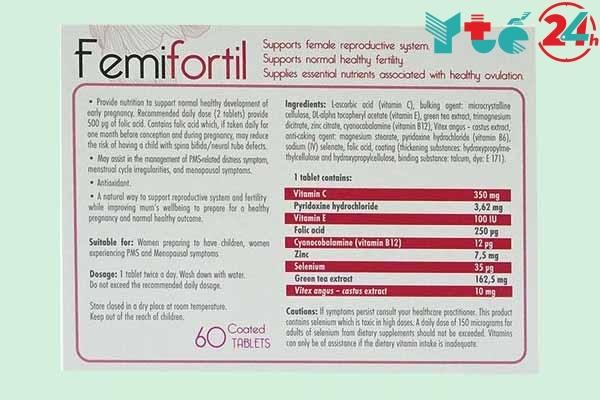 Thành phần và Tác dụng của Femifortil