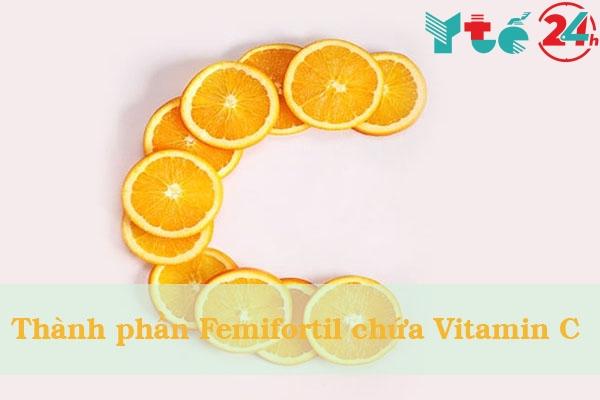 Hàm lượng Viatmin C có trong Femifortil là 350mg