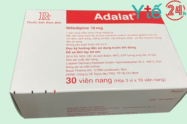 Lưu ý khi sử dụng thuốc hạ huyết áp khẩn cấp Adalat