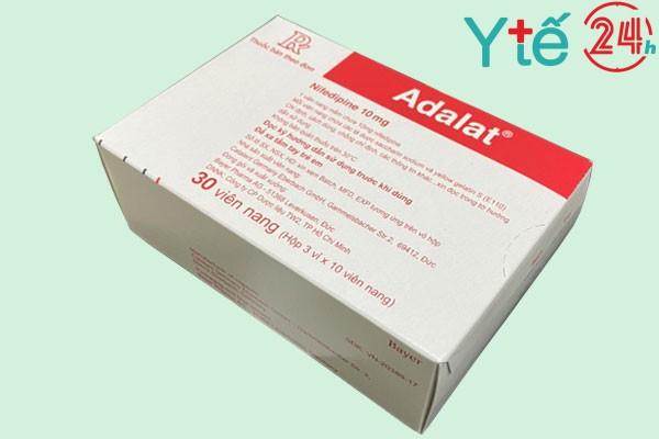 Adalat 10 mg ngậm dưới lưỡi