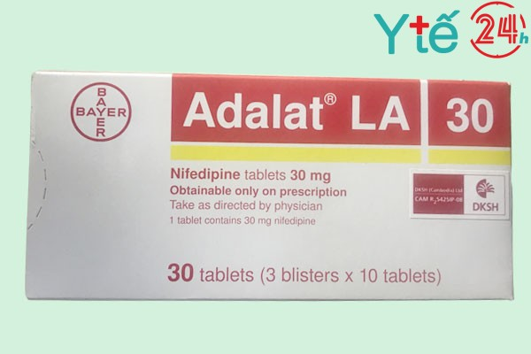 Thuốc huyết áp Adalat LA Tab 30