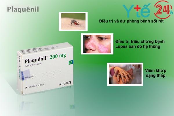 Công dụng chính của thuốc Hydroxychloroquine Plaquenil 200mg