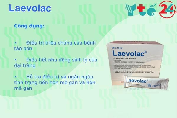 Thuốc Laevolac 670mg/ml có tác dụng gì?