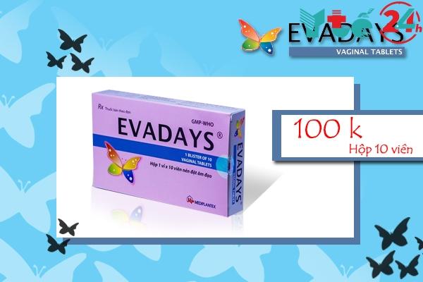 Giá bán của thuốc đặt phụ khoa Evadays