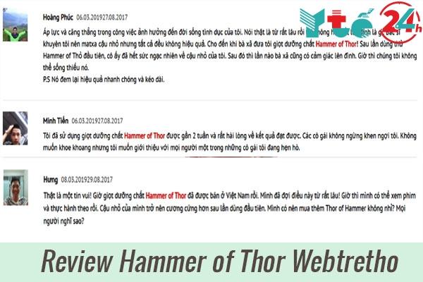Review về Hammer of Thor của người dùng Webtretho