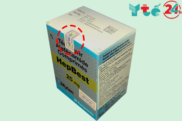Thuốc Hepbest giả không có tem chống hàng giả
