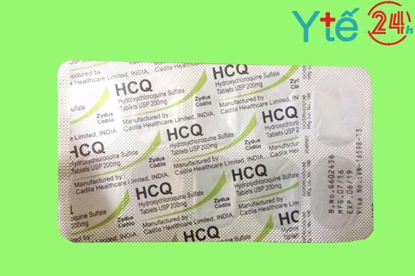 Hình ảnh minh họa vỉ thuốc Hydroxychloroquine 200mg