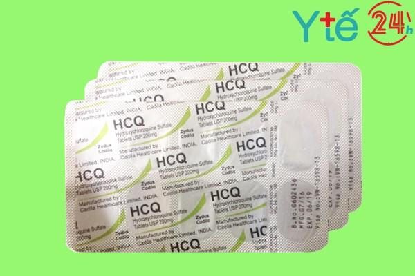 Hình ảnh minh họa vỉ thuốc HCQ 200mg