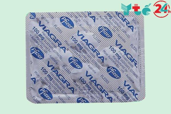 Hình ảnh vỉ thuốc Viagra chính hãng