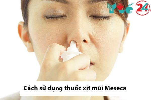 Hướng dẫn sử dụng thuốc xịt mũi Meseca