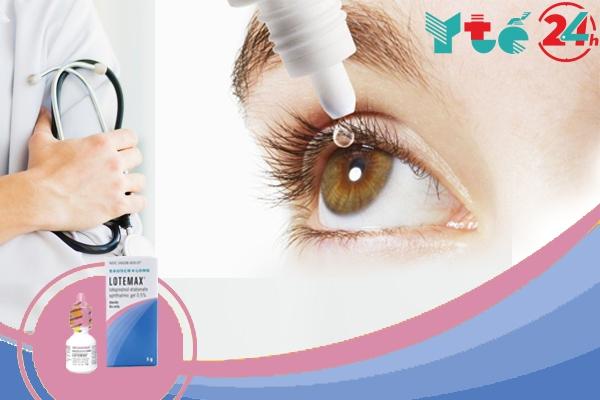 Lotemax - Nhỏ trực tiếp vào mắt