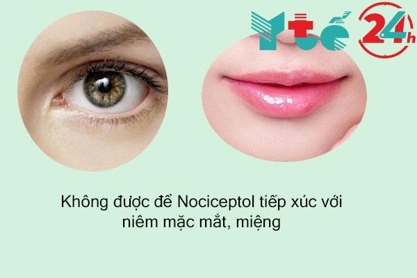 Thận trọng khi sử dụng thuốc Nociceptol
