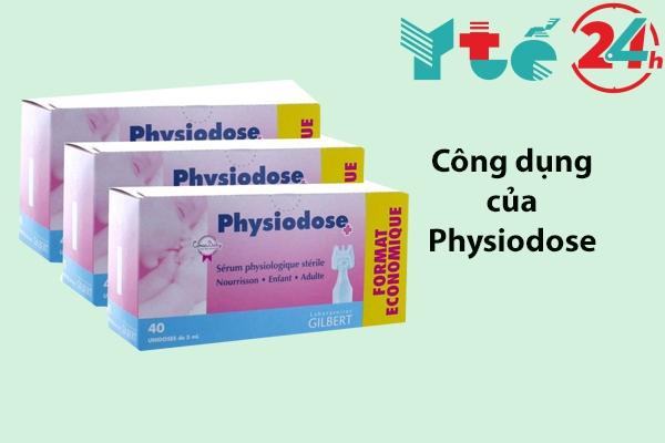 Công dụng của nước muối sinh lý Physiodose