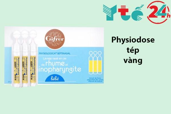 Dung dịch nước muối sinh lý Gifrer Physiodose tép vàng