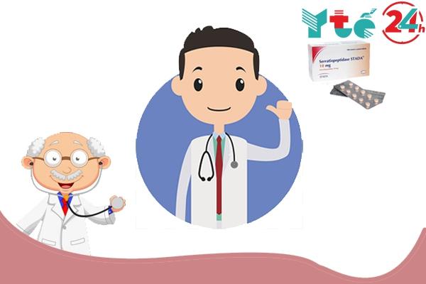 Lưu ý thận trọng khi dùng thuốc Serratiopeptidase
