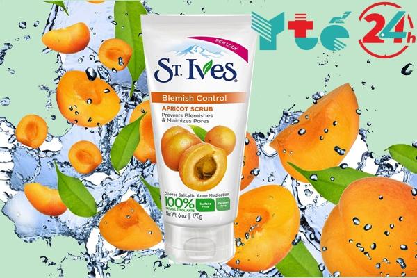 Kem tẩy tế bào chết St.ives mơ Blemish Control Apricot Scrub