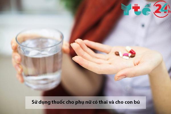 Dùng Triamcinolon cho phụ nữ có thai vào cho con bú
