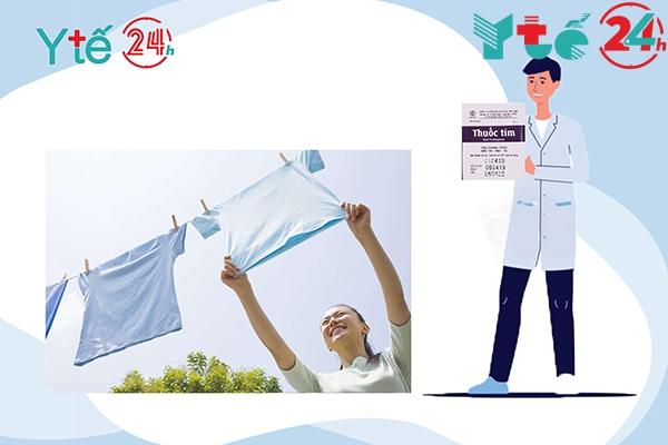 Thuốc tím tẩy quần áo