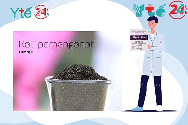 Thuốc tím KMnO4 dùng trong sinh hoạt hàng ngày