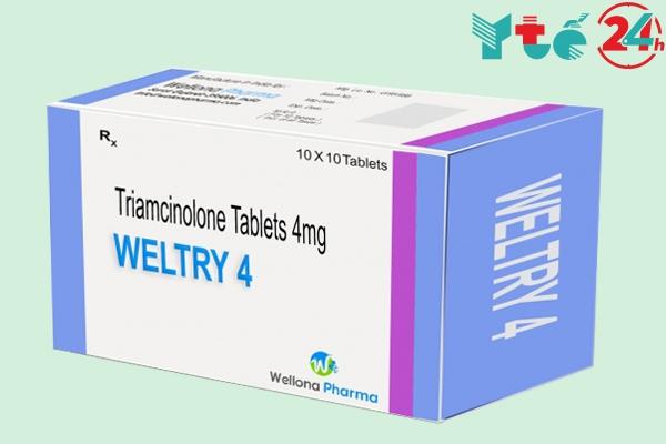 Thuốc Triamcinolon 4mg viên nén