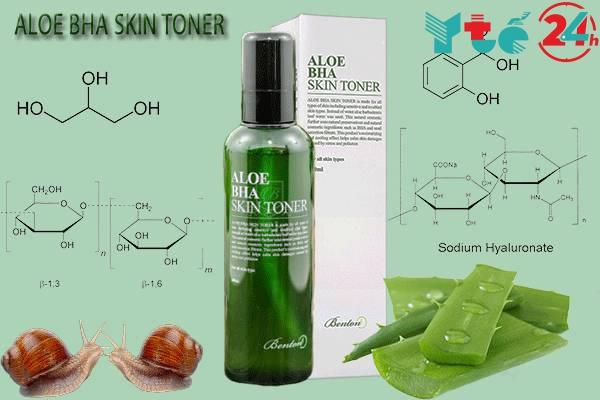 Thành phần của nước hoa hồng Aloe BHA Skin Toner