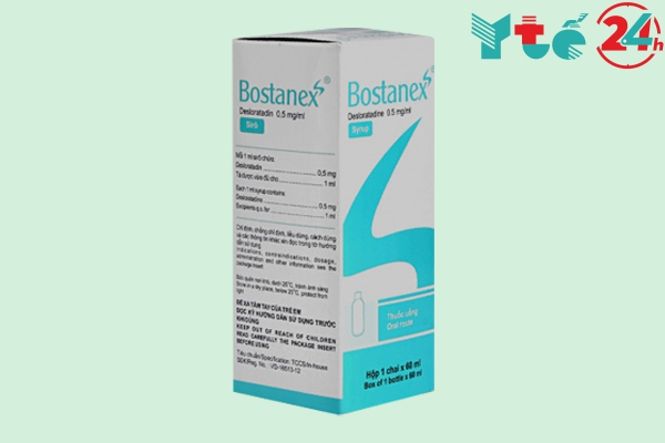 Hộp Bostanex Syrup 60ml Syrup