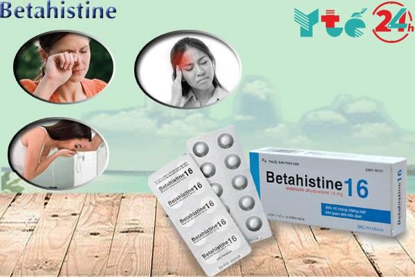 Công dụng của thuốc Betahistine