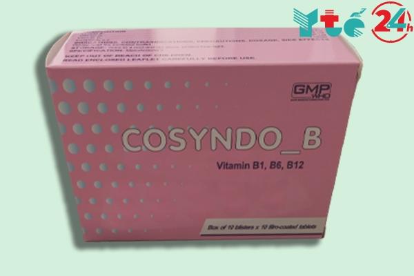 Phân biệt thuốc Cosyndo B giả và thật thông qua hình dáng bên ngoài của hộp thuốc