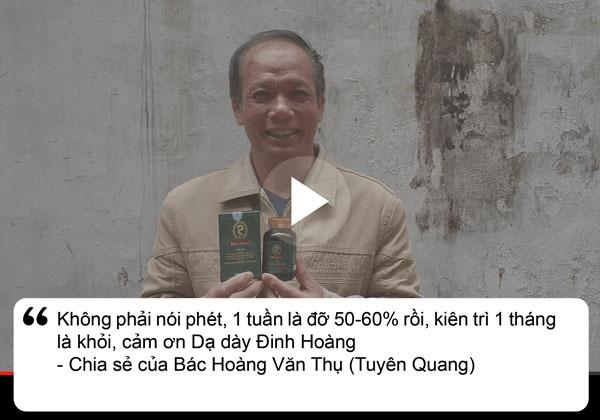 Bệnh nhân Thụ chia sẻ về dạ dày Đinh Hoàng