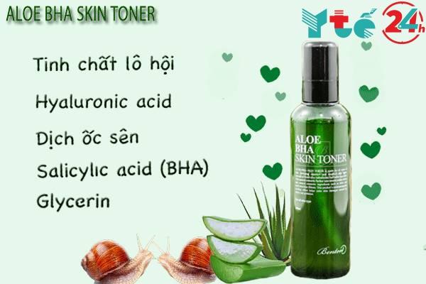Sử dụng nước hoa hồng Aloe BHA Skin Toner có tốt không?