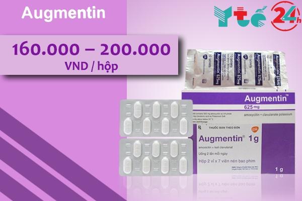 Giá bán của thuốc Augmentin hiện nay