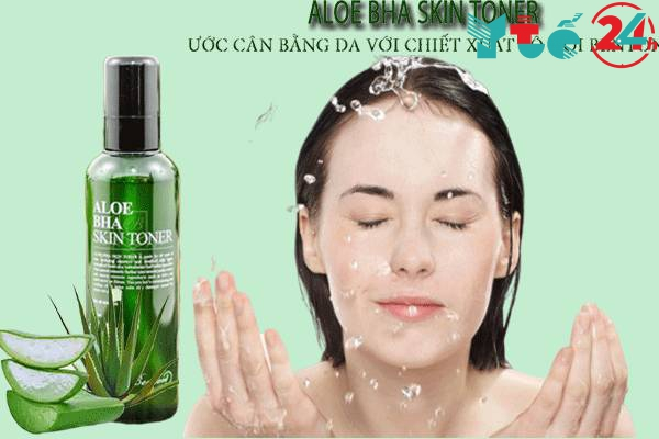 Cách sử dụng Aloe BHA Skin Toner