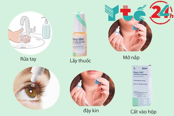 Cách dùng thuốc nhỏ mắt Kary Uni