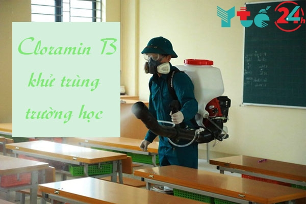 Sử dụng Cloramin B khử trùng tại trường học, mầm non
