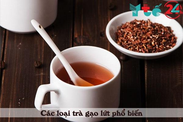 Nấu trà gạo lứt với đậu đen và đậu đỏ