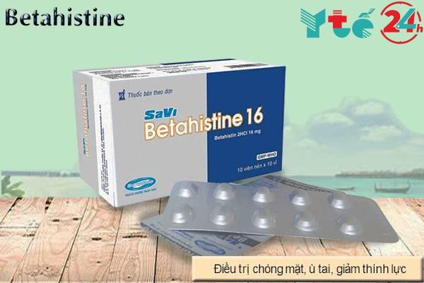 Lưu ý khi dùng thuốc Betahistine