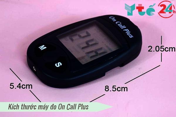 Các thông số kỹ thuật máy đo đường huyết On Call Plus