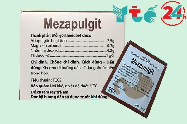 Thành phần có trong Mezapulgit 3,3g