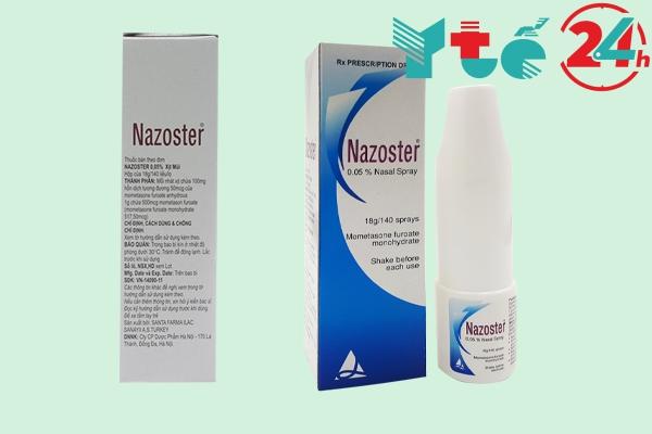 Thành phần của thuốc xịt mũi Nazoster 0,05%