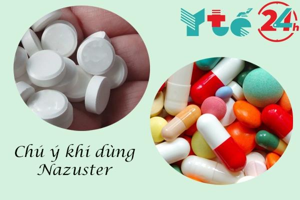 Nazoster có thể xảy ra tương tác khi sử dụng cùng với các thuốc khác