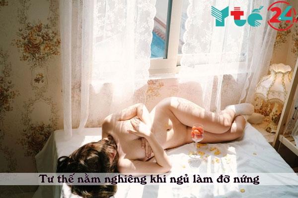 Tư thế nằm nghiêng khi ngủ
