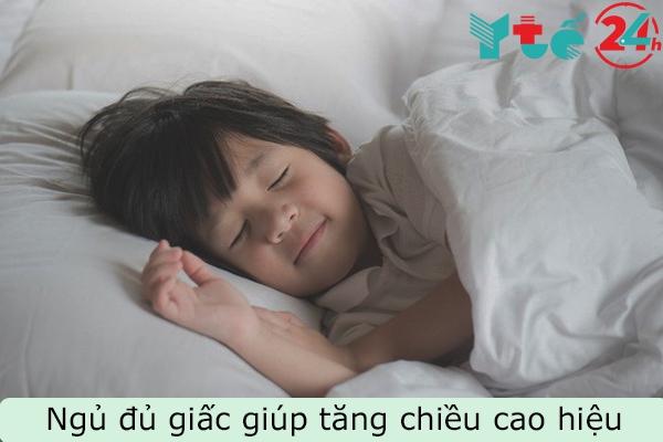 Ngủ đủ giấc là vô cùng cần thiết để cải thiện chiều cao