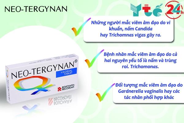 Những trường hợp sử dụng thuốc đặt phụ khoa Neo-tergynan