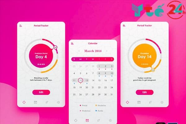 Ứng dụng theo dõi kinh nguyệt miễn phí - Period Calendar Tracker