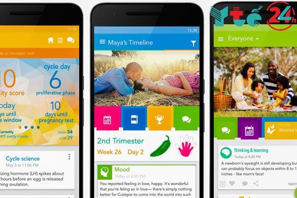 Ứng dụng tính ngày rụng trứng cho Iphone - Ovia