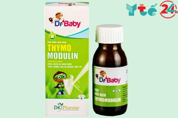 Thymomodulin cũng có dạng siro uống phù hợp sử dụng cho trẻ em